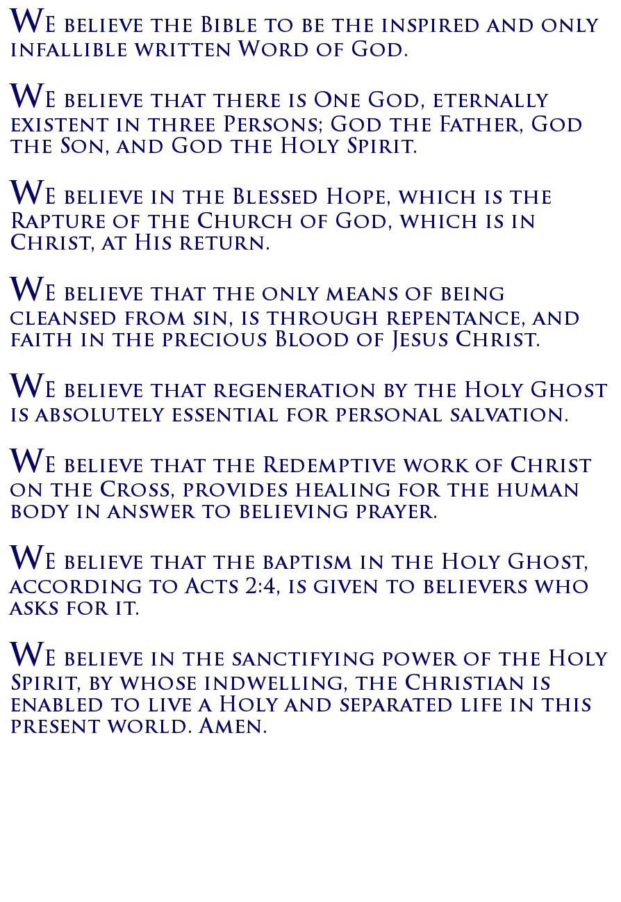 apostolic christian faith essay